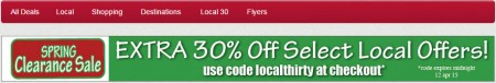 nCrowd Extra 30 Off Select Local Deals Promo Code (Apr 11-12)