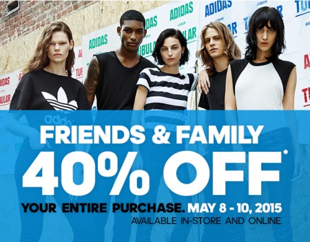 Adidas Friends and Family Sale - 40 Off Your Entire Purchase (May 8-10)