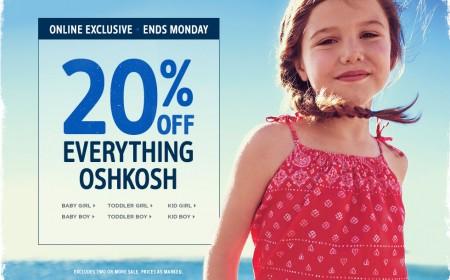 Carter's OshKosh 20 Off Everything Sale (May 22-25)