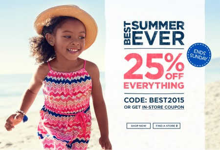 Carter's OshKosh Canada 25 Off Everything Sale (May 7-10)