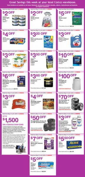 Costco Weekly Handout Instant Savings Coupons West (May 18-24) A