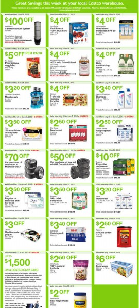 Costco Weekly Handout Instant Savings Coupons West (May 25-31)