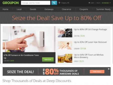 GROUPON Seize The Deal - Save up to 80 Off Thousands of Awesome Deals!