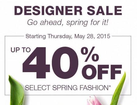 Holt Renfrew Designer Sale - Up to 40 Off select Spring Fashion