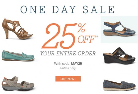 Naturalizer One Day Sale - 25 Off Sitewide Promo Code (May 28)