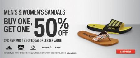 Sport Chek Sandals BOGO Sale - Buy One, Get One 50 Off (Until Jun 1)