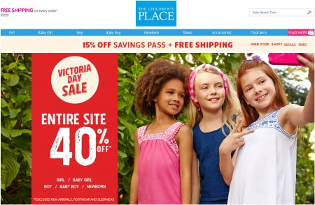 The Children's Place 40 Off Entire Site + Extra 15 Off + Free Shipping