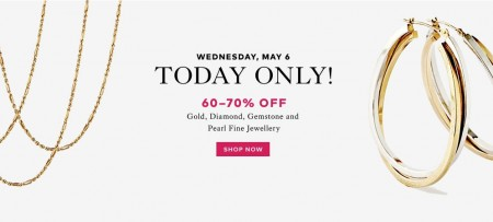 TheBay Flash Sale - 60-70 Off Gold, Diamond, Gemstone and Pearl Fine Jewellery (May 6)