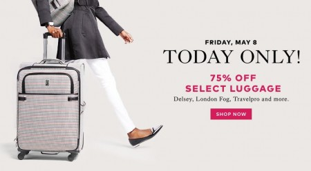 TheBay Flash Sale - 75 Off Select Luggage (May 8)