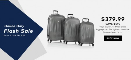 TheBay Flash Sale - Save $195 Off Heys SuperLite 3-Piece Luggage Set (May 20)