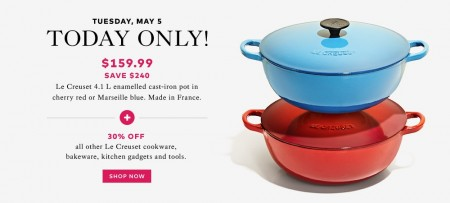 TheBay.com Flash Sale - 60 Off Le Creuset Cookware Sale (May 5)