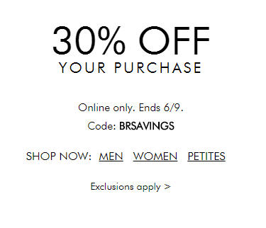 Banana Republic 30 Off Your Online Purchase (June 9)