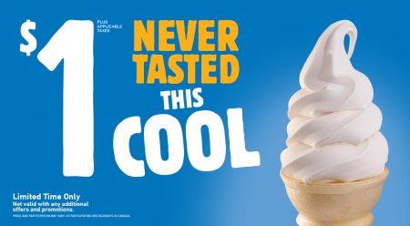Burger King $1 Soft Serve Ice Cream