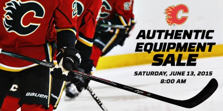 Calgary Flames 2015 Authentic Equipment Sale (June 13, 8am-1pm)