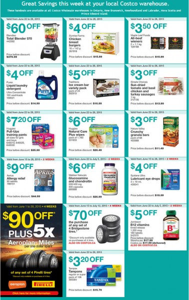 Costco Weekly Handout Instant Savings Coupons East (June 22-28)