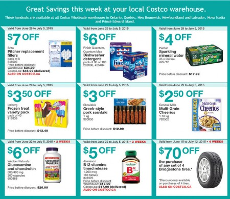 Costco Weekly Handout Instant Savings Coupons East (June 29 - July 5)