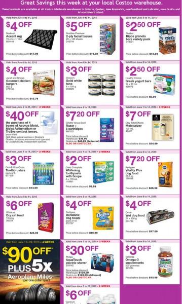 Costco Weekly Handout Instant Savings Coupons East (June 8-14)