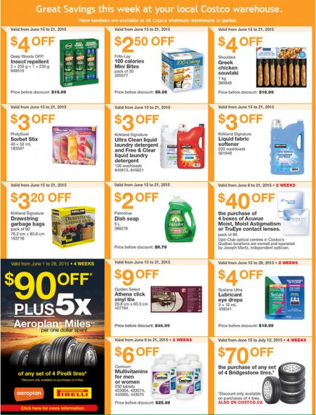 Costco Weekly Handout Instant Savings Coupons Quebec (June 15-21)