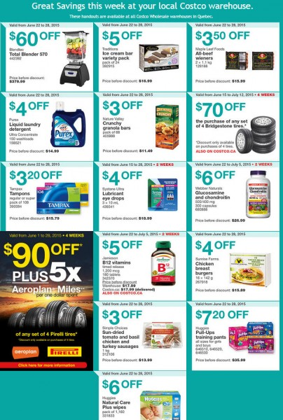 Costco Weekly Handout Instant Savings Coupons Quebec (June 22-28)