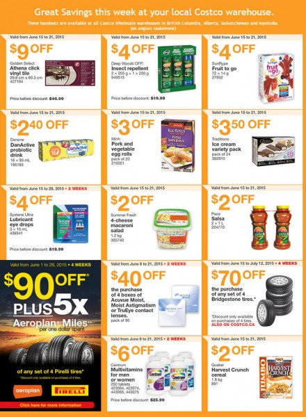 Costco Weekly Handout Instant Savings Coupons West (June 15-21)