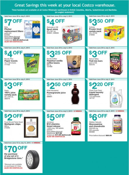 Costco Weekly Handout Instant Savings Coupons West (June 29 - July 5)