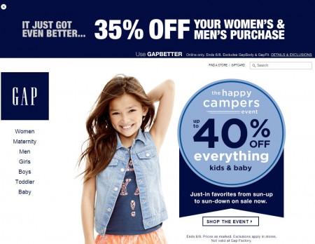 GAP 35 Off Women's & Men's Purchase Promo Code (June 7-8)
