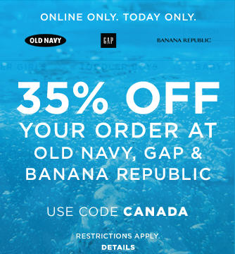 GAP, Banana Republic, and Old Navy 35 Off Online Purchase Promo Code (June 29)