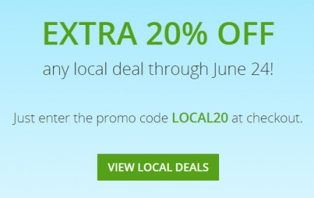 GROUPON Extra 20 Off Any Local Deals Promo Code (June 24)