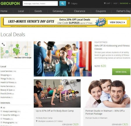 GROUPON Extra 25 Off Any Local Deals Promo Code (June 18-19)