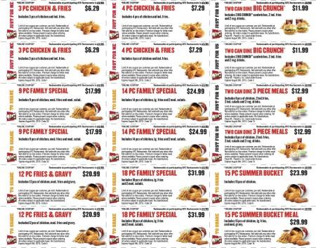 KFC New Summer Savings Coupons (Until Aug 9)