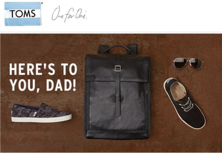 TOMS Shoes Father's Day Sale - $10 Off $60 Purchase + Free Shipping (Jun 16-21)