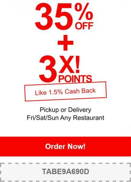 TasteAway Promo Code - 35 Off Any Restaurant Pick-up or Delivery Order (June 12-14)