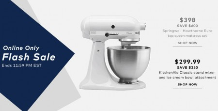 TheBay Flash Sale - $299.99 for KitchenAid Classic Stand Mixer - Save $250 (June 3)