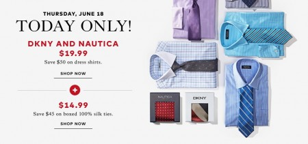 TheBay Today Only - $19.99 for DKNY and Nautica Dress Shirts - Save $50 (June 18)