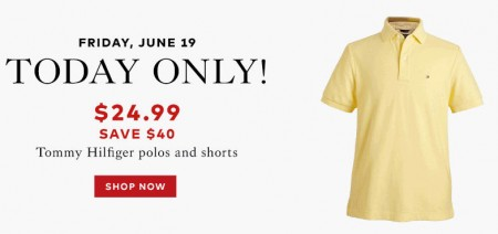TheBay Today Only - $24.99 for Tommy Hilfiger Polos and Shorts - Save $40 (June 19)