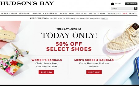 TheBay Today Only - 50 Off Select Shoes (June 16)