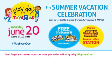 Toys R Us Free Play Day Family Event (June 20, starting at 11am)
