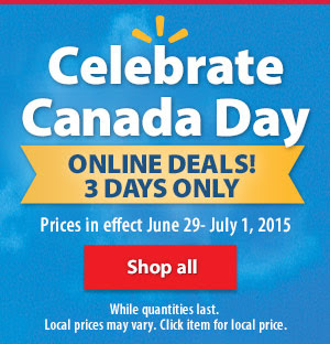 Walmart Canada Day Online Deals + Free Shipping (June 29 - July 1)