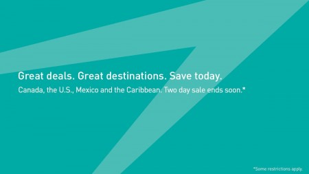 WestJet Two-Day Seat Sale (June 2-3)