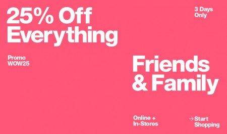 American Apparel Friends & Family Sale - 25 Off Everything (July 20-23)