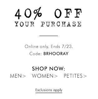 Banana Republic 40 Off Your Purchase Promo Code (July 22-23)