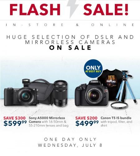 Best Buy Flash Sale - Huge Selection of Cameras on Sale (July 8)