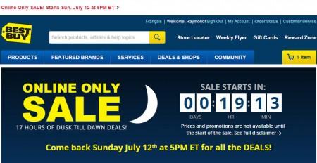 Best Buy Online Only Sale - Dusk Till Dawn Deals (July 12)