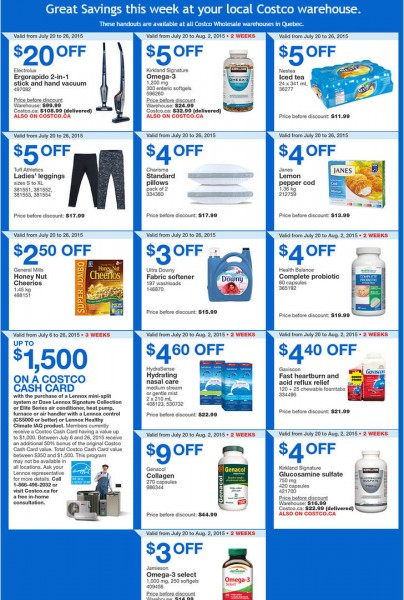 Costco Weekly Handout Instant Savings Coupons Quebec (July 20-26)