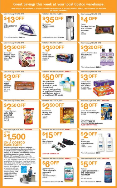 Costco Weekly Handout Instant Savings Coupons West (July 13-19)