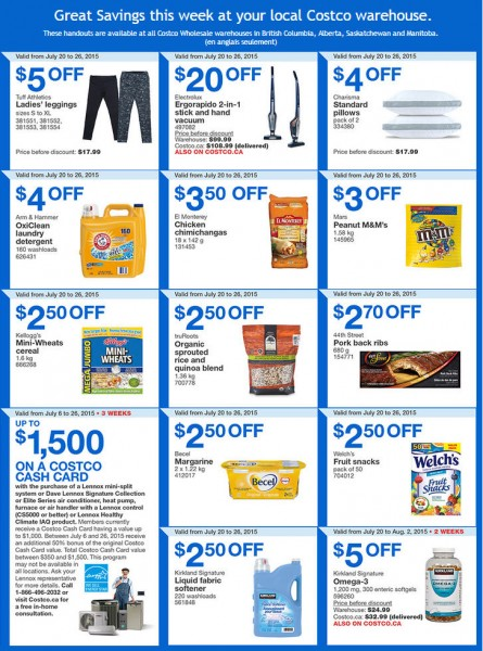 Costco Weekly Handout Instant Savings Coupons West (July 20-26)