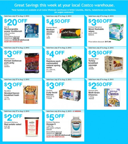 Costco Weekly Handout Instant Savings Coupons West (July 27 - Aug 2)