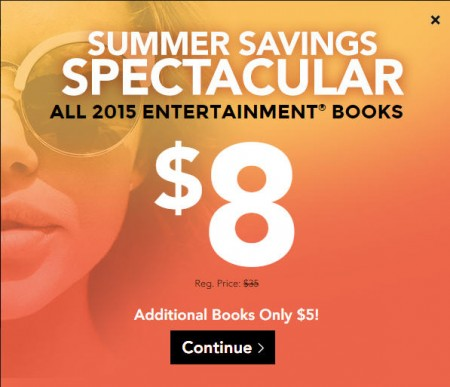 Entertainment All Coupon Books only $8 + $4.99 Shipping (Up to 74 Off)