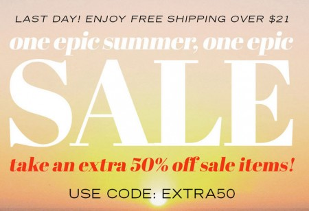 Forever 21 Extra 50 Off Sale Items (July 18-19)