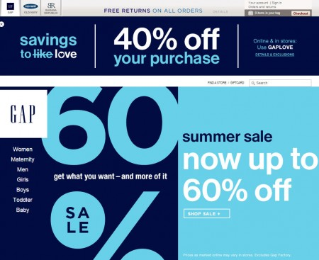 GAP 40 Off Your Entire Purchase Promo Code (July 11-12)